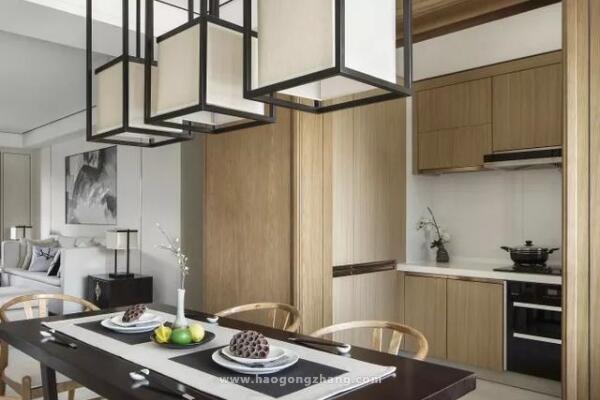 新中式风格家居装修设计,处处流露出意洁高雅、无花自芳的气息
