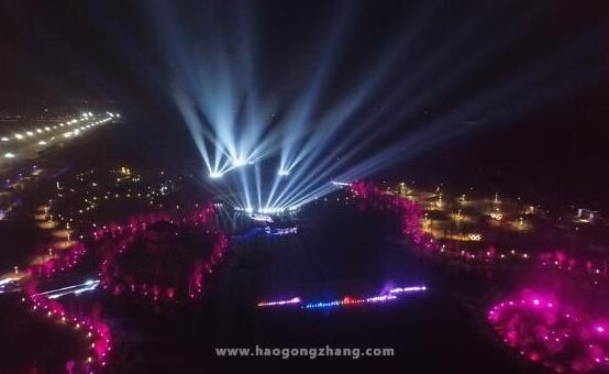 HDL河东助力河南漯河中心公园打造魅力光影秀