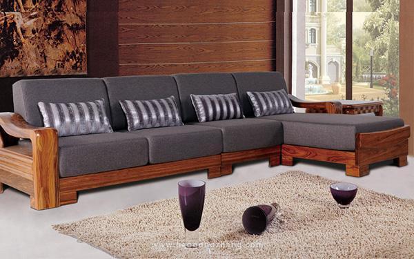 實木布藝沙發