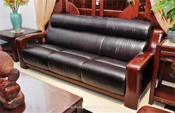 红木皮沙发