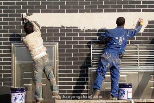 室外涂料施工