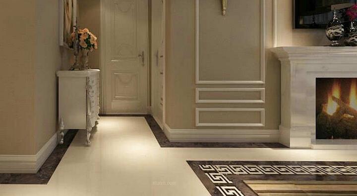 如选择与木地板搭配相近颜色的踢脚线,效果高贵大气,又不显突兀,与