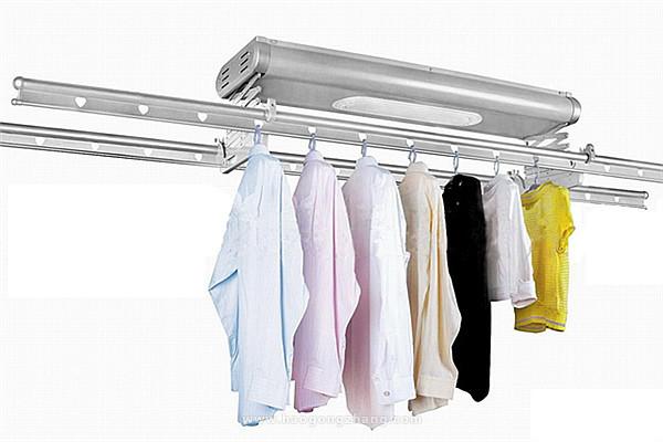 电动升降晾衣架安装
