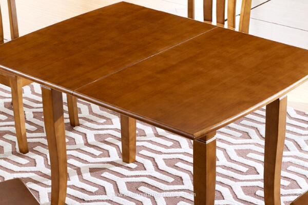 实木折叠餐桌