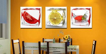 装饰画搭配技巧 餐厅装饰画无框的类型