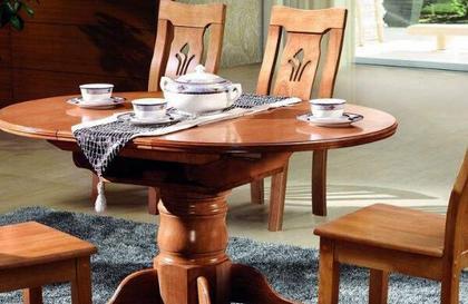 实木圆餐桌分类 实木圆餐桌价格
