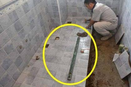 工人把卫生间地面做成斜着的, 以为是偷工减料, 没想到用处这么大