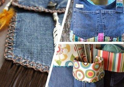 旧牛仔裤重复利用的九种方法!