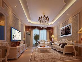 欧式两室一厅装修效果图