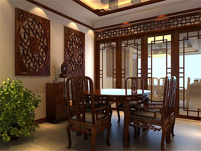 一百平米两室两厅餐厅装修效果图
