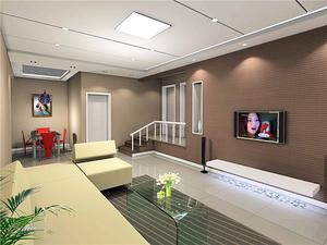 简约客厅电视墙效果图