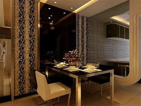 现代室内设计效果图两室一厅