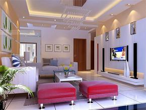 80平米二室一厅装修效果图