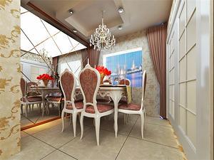 三室两厅现代简约餐厅装修效果图