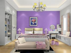 紫色背景墙效果图