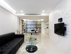 现代风格2室1厅户型装修效果图