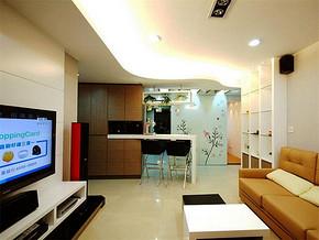 现代两室一厅吊顶装修效果图