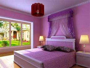 紫色装修风格效果图
