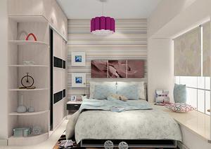 小户型卧室衣柜设计效果图