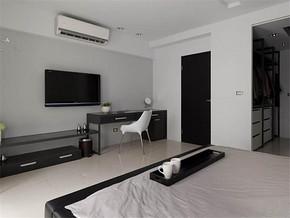 两室一厅两卫卧室装修效果图