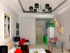 一房一厅40平米现代装修效果图