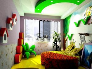 三居室儿童房床装修效果图欣赏