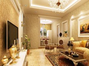 欧式风格一室一厅客厅装修图