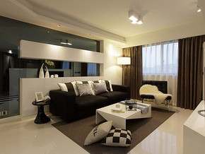 一室一厅简约风格装修效果图