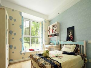欧美风情三居室儿童房书架装修效果图欣赏