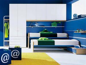 现代小空间男孩儿童房设计效果图