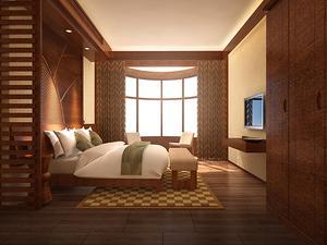 最新中式一室一厅装修效果图