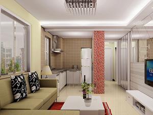 一室一厅现代风格客厅装修效果图