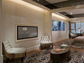 现代时尚客厅背景墙装修效果图