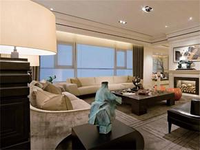 现代温馨客厅背景墙装修效果图