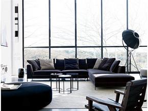 黑白家具清新客厅装修样板房