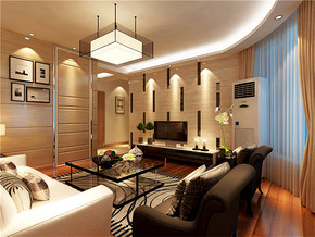 现代温馨明亮客厅室内家具装修图片