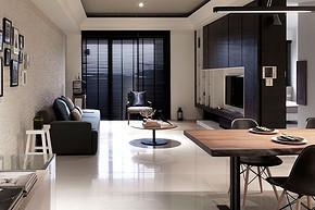 现代清新简约电视柜客厅装修样板房