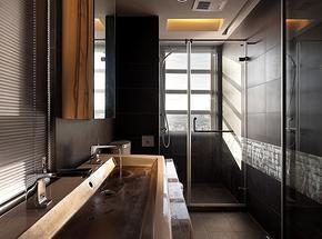 现代复古小卫生间简单装修图