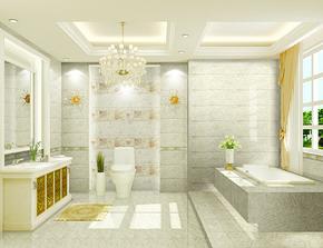 韩式简约小卫生间装修设计图