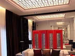 中式风格办公室休息吊顶效果图