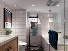 混搭风格卫生间墙面贴瓷砖效果图