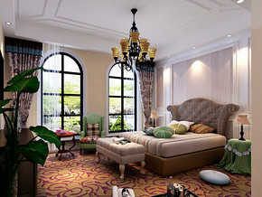 四室一厅房型装修效果图