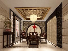 四室一厅中式装修效果图