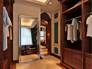 两室一厅两卫户型效果图