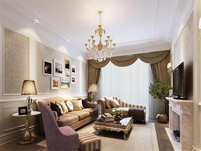 欧式风格四室两厅简装效果图