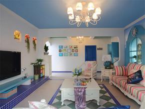 三室一厅一卫一厨地中海装修效果图