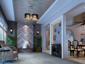 地中海室内房屋装修效果图