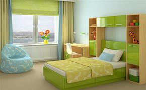 四室一厅家装卧室装修效果图