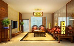 三室一厅一卫一厨中式客厅装修效果图