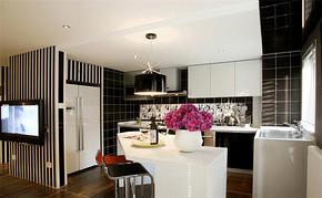 现代四室一厅房屋厨房装修图